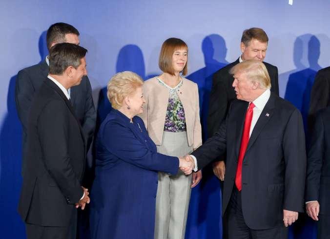 D. Grybauskaitė Varšuvoje susitiko su JAV Prezidentu D. Trampu_20170706